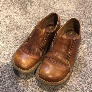 Dr. Martens brown slip on shoes